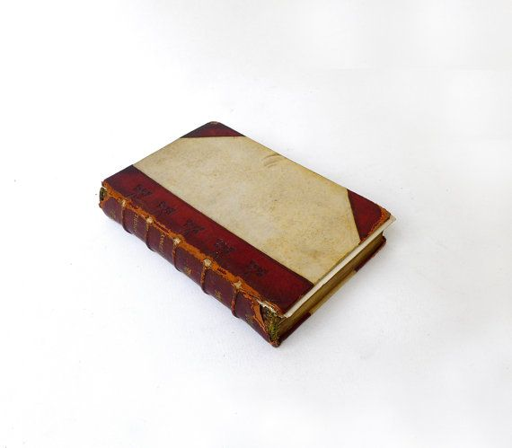 Antique 1800s leather bound gilt book of works by Miss by evaelena, $35.00