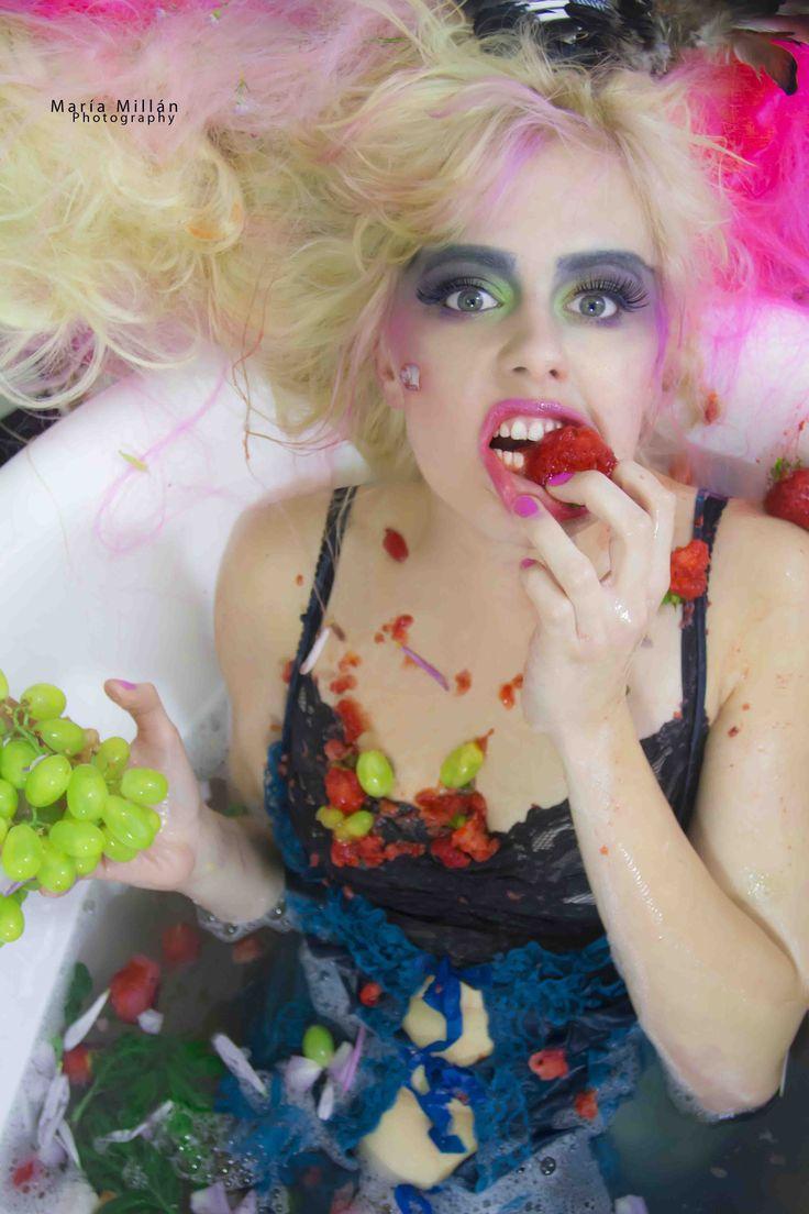 #Fruit's #Bath #Colours #summer #Mariamillan #Fashion #Photography #Strawberry #grapes