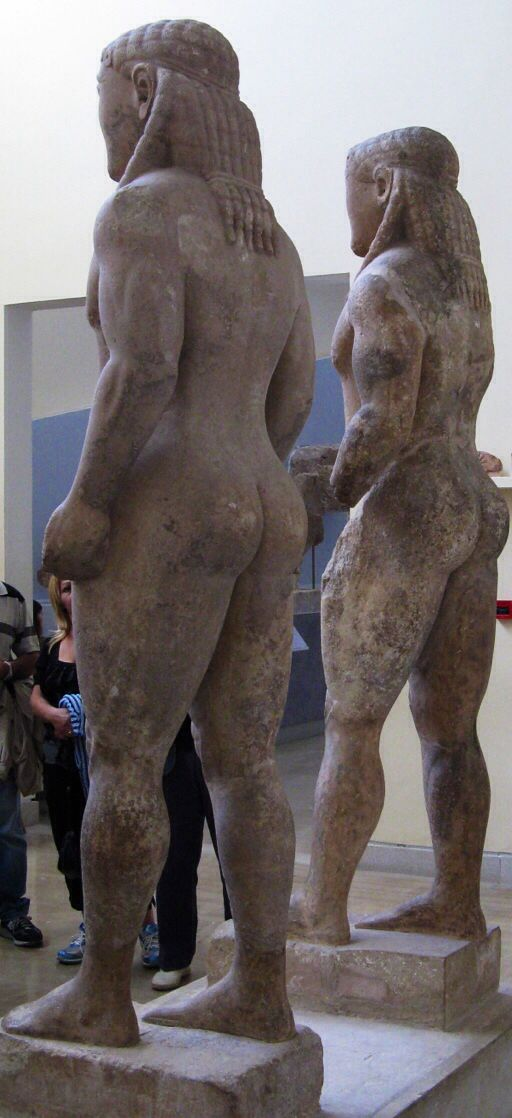 #Kleobis and #Biton were a pair of #Parian marble sculptures dating back to 585 BC and preserved in the #Archaeological #Museum of #Delphi.