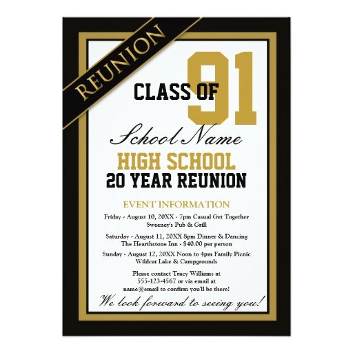 10 best Class Reunion Invitation Ideas images on Pinterest Class - best of invitation reunion template