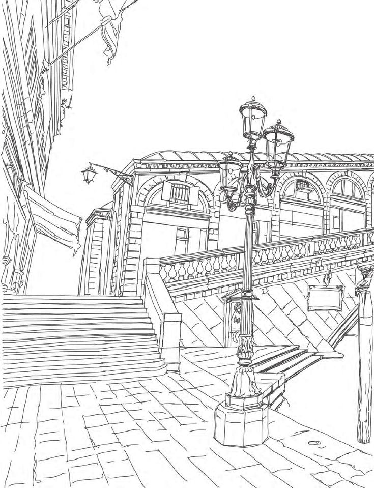 Venice Coloring Book For Adults