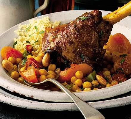 Lamb shanks with chickpeas & Moroccan spices recipe - Recipes - BBC Good Food