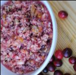 Cranberry sauce is one of those Thanksgiving staples that has never actually been a staple in my family.  I can't really remember ever eating it to be honest.  Especially not the jellied cranberry sauce from the can.  While that speaks tradition to many people, it doesn't to me.  I do however love a good cranberry salad made