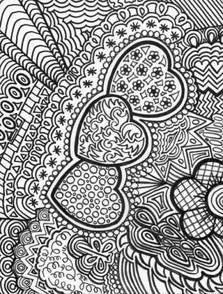 doodle heart coloring page 675 best images about zentangle on 4277