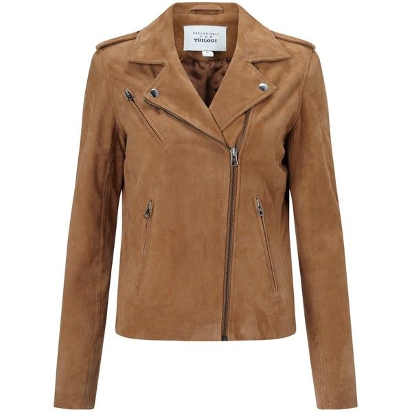 Denim Wardrobe by Trilogy Harley Suede Jacket , Tan (19,460 PHP) ❤ liked on Polyvore featuring outerwear, jackets, tan, suede leather jacket, slim jacket, tan denim jacket, slim fit jacket and brown suede jacket