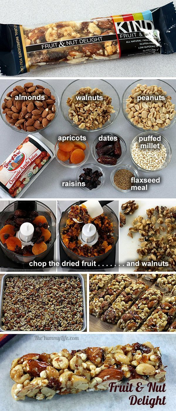 Homemade KIND Bars - copycat recipes for 8 popular varieties of these high protein, energy, & nutritional nut bars