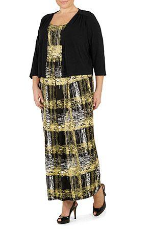 Ann harvey deco tiger maxi dress