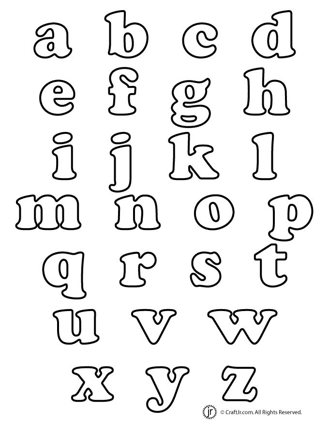 a brand new and much requested set of lowercase bubble letters to print - Fun Letters To Print