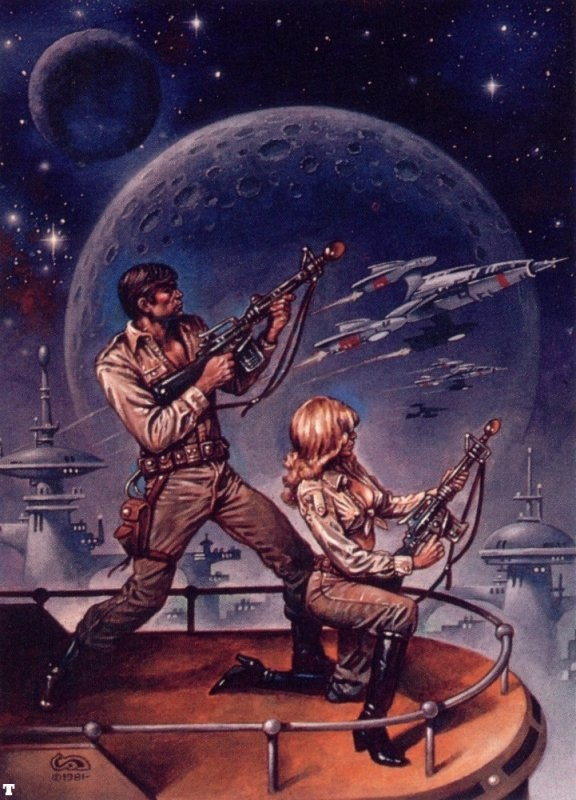I like that old school, sci-fi cover art