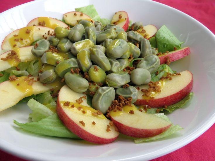 Tuinbonensalade met appel, vegan