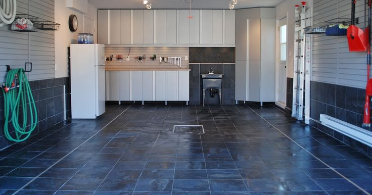 Vinyl flooring in the garage!! porcelain garage floor tiles