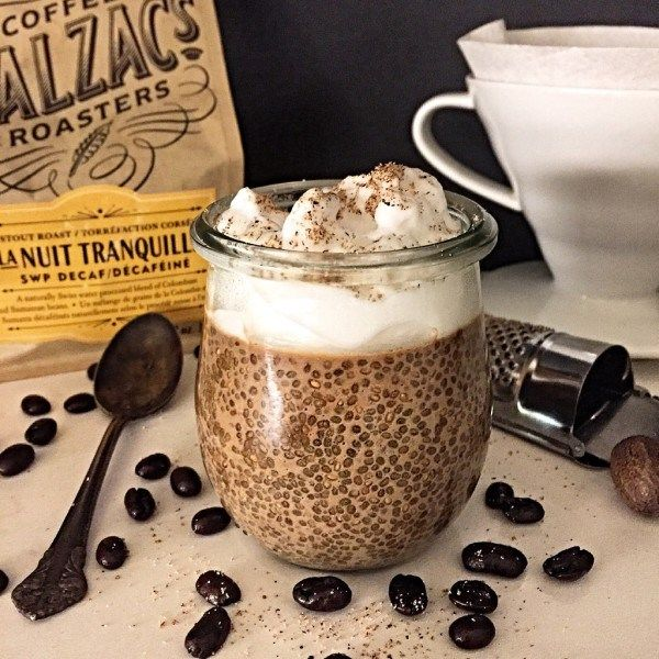 Mocha Chia Pudding, taking coffee and chia pudding to a new level!