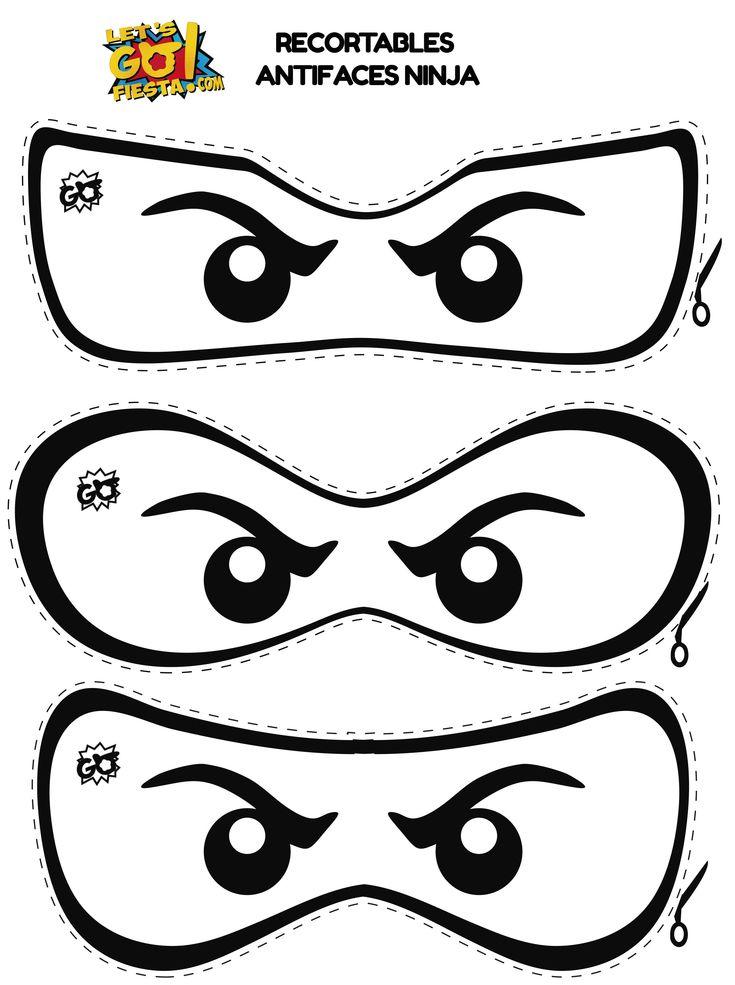Image Result For Ninjago Mask Outline Lego Ninjago