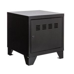 Tavolo basso 1 anta   Pierre Henry - nero   40 x 40 x 36,5 cm (L x p x alt)