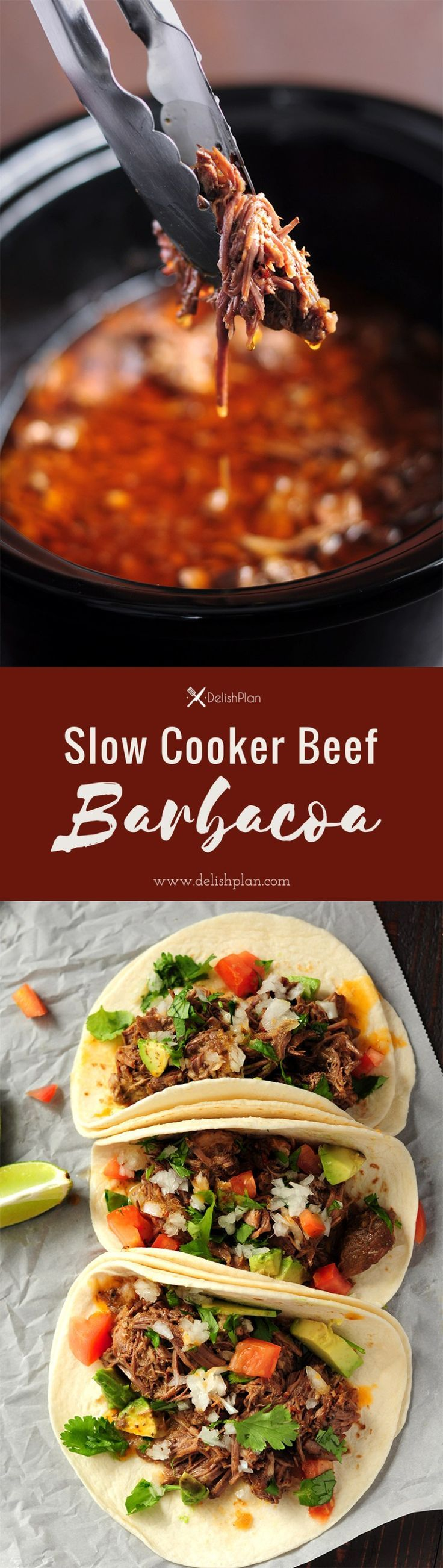 Extremely tender beef barbacoa slow-cooked in a super savory sauce. This recipe only takes 5 mins of hands-on time. Enjoy barbacoa tacos anytime! Want more slow cooker recipes like this one? There are tons in our slow cooker cookbook. Click the image to sign up and get notified as soon as the book is released.