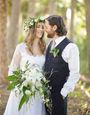 Свадебные тренды 2015 - эко-стиль, жених и невеста