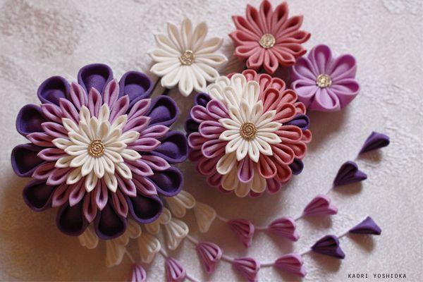gallery | KYOTO 加織屋 京都のつまみ細工 髪飾り アクセサリー (成人式、七五三、十三参り、ふだんの着物)