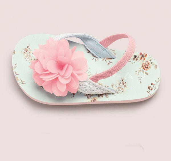 英國代購童裝NEXT 2015春夏新款女寶寶女童粉色花人字拖鞋 涼鞋