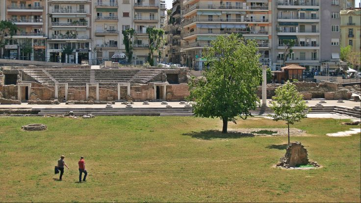 The Odeon of the Agora. (Walking Thessaloniki / Route 06, Saint Demetrius)