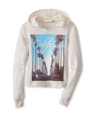 71% OFF Vintage Havana Girl's 7-16 Crop California Sweatshirt (Grey)