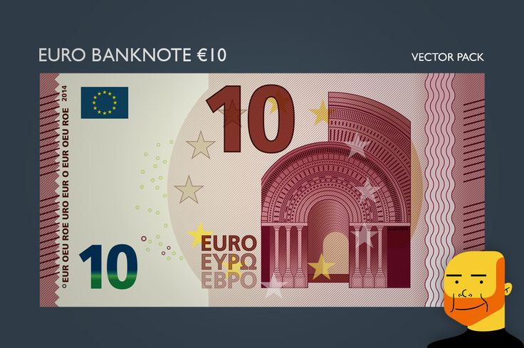 Euro Banknote €10 (Vector) by Paulo Buchinho on Creative Market