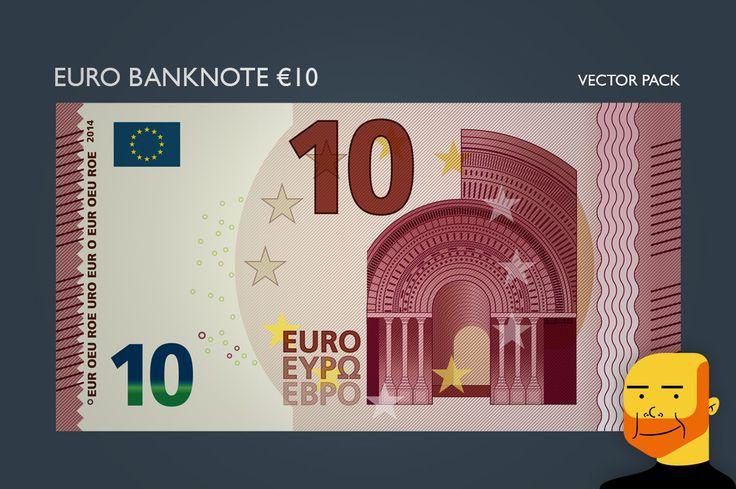 Euro Banknote €10 (Vector) by Paulo Buchinho on Creative Market