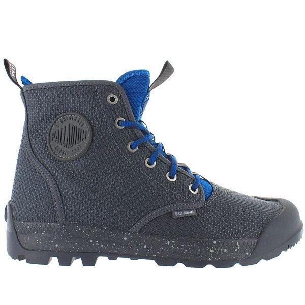 Palladium Pampa Tech High TX - Castlerock/Mykonos Blue Nylon High Top Boot 75189-050