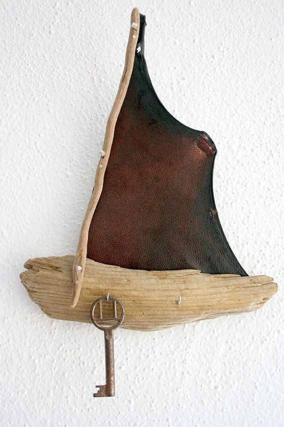 Driftwood Boat with hooks