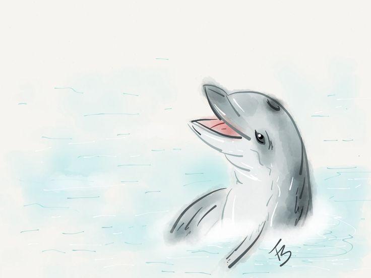 Ooooiii!!! #madewithpaper #golfinho #dolphin #mar #sea #IpadArtist #desenho #ilustração #ilustraipad #FeSendra
