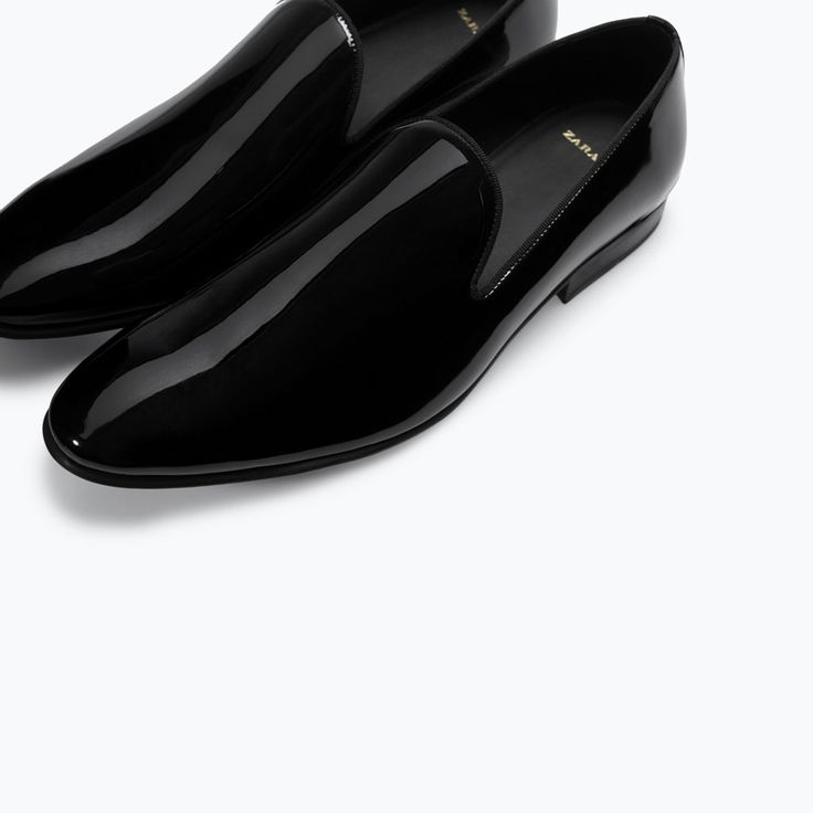 ZARA - NEW THIS WEEK - PATENT SLIPPER WITH DETAILED HEEL