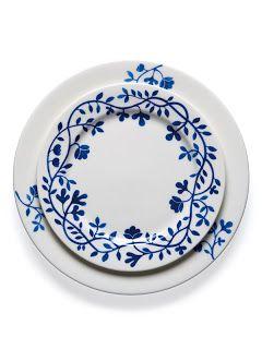 Acute Designs: Channeling Kirsten's Swedish Style - Swedish blue & white dinnerware design