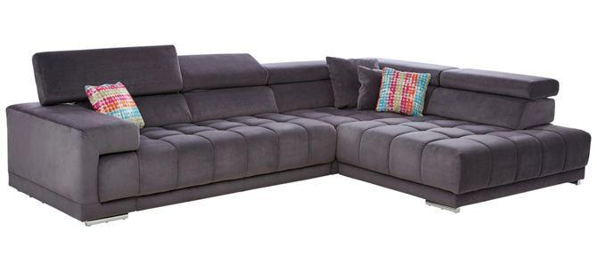Ecksofa Anthrazit Mikrofaser Sofa Couch Sofa Home Decor