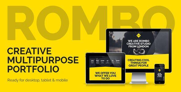 rombo responsive multipurpose portfolio muse template adobe musetemplates freesimplecreative
