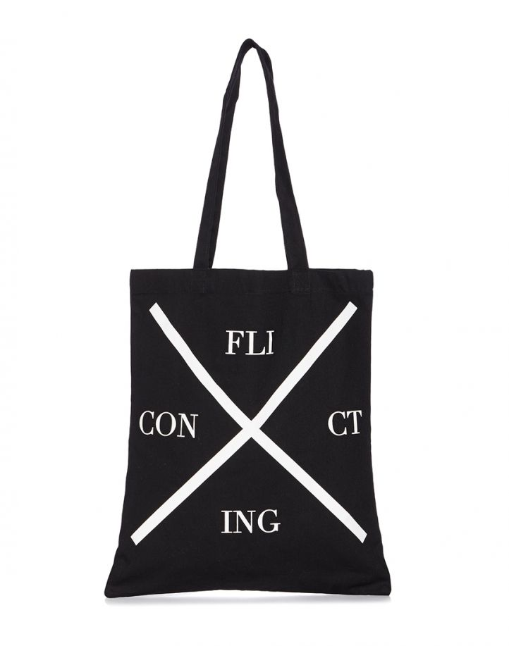 Cheap Monday Tote Bag with Conflicting Print