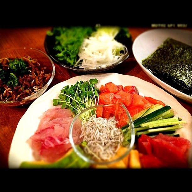 はも皮美味しそう - 42件のもぐもぐ - ☆手巻き寿司☆ by yume69