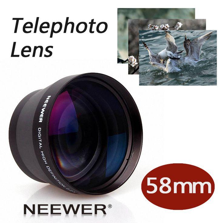 Neewer 58 мм 2X Телеобъектив для Canon Nikon Olympus Sony Pentax Samsung и Другие DSLR Камеры Объективы с 58 ММ Фильтр нить