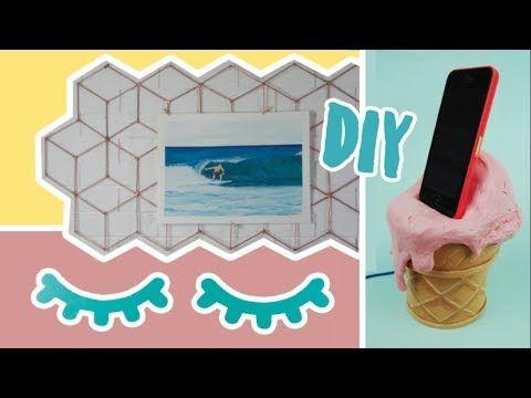 DIY: 3 Ideias de Decoração Baratinha estilo Pinterest! Feat. Nina Braz! Por Isabelle Verona - YouTube