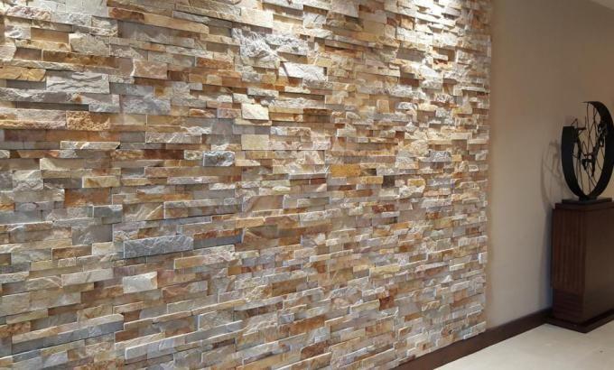 Interior Stacked Stone Veneer Wall Panels Rock Veneer
