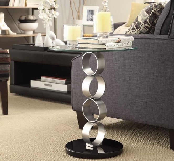 Cute Contemporary Side Tables For Living Room Goodworksfurniture In 2020 Metal Furniture Design Furniture Glass Side Tables