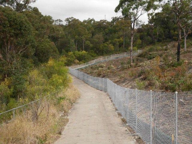 Cycleway fencing -