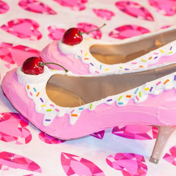 Ice Cream Shoes Cake Shoes Ice Cream Heels by mimibun on Etsy
