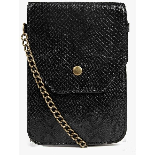 Boohoo Rosie Faux Snake Festival Cross Body Bag (131.000 IDR) ❤ liked on Polyvore featuring bags, handbags, shoulder bags, black, crossbody handbag, evening purses, envelope evening clutch, cross body backpack purse and crossbody purse
