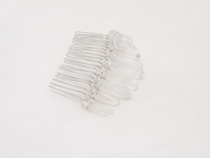 Polished Crystal Comb by Crowns&Wreaths sydney based crown maker