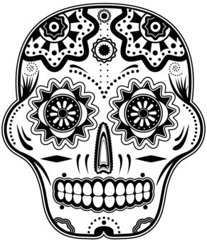mexican sugar skull coloring pages - photo#9