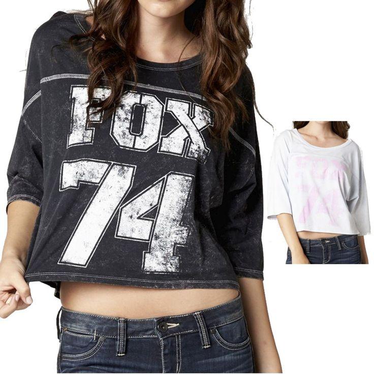 2015 Fox Racing Kick Off Womens Tee Half Sleeve Short Sleeve Shirt Top