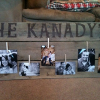 Personalized pallet picture frame! We made it!