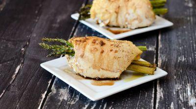 Gluten Free Dairy Free Asparagus Stuffed Chicken Breast