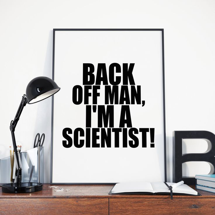 Back Off Man, I'm A Scientist, Ghostbusters Quote, Bill Murray, Instant…