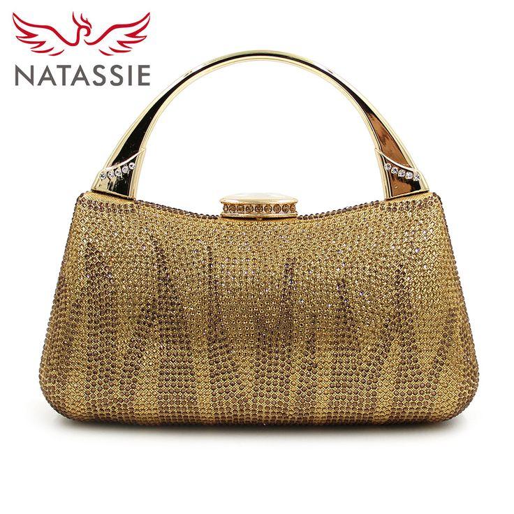 NATASSIE 2017 Women Evening Clutch Bag 5 Colors Ladies Evening Clutches  Purses Female Gold Bag ffaa9ebd751e
