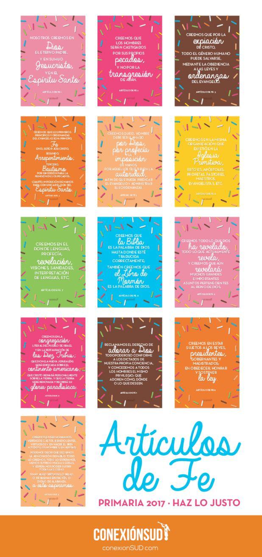 Estos carteles servirán para aprender los Artículos de Fe y memorizarlos…                                                                                                                                                                                 Más